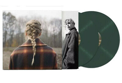 Taylor Swift Evermore 2-LP Exclusive Colored Vinyl Transparent Green NEW SEALED