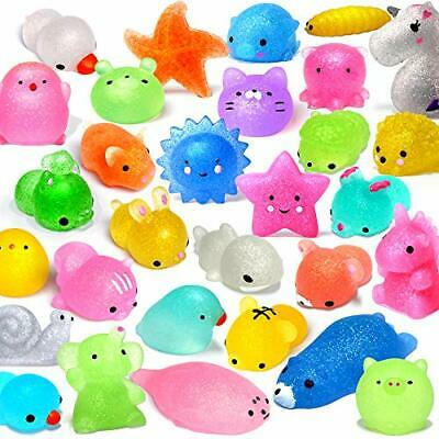 FLY2SKY 25PCS Mochi Squishy Toys 2nd Generation Glitter Party Favors for Kids-