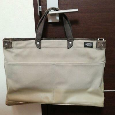JACK SPADE Nice Tote Bag Beige Fast Free Shipping from Japan With Tracking K2879