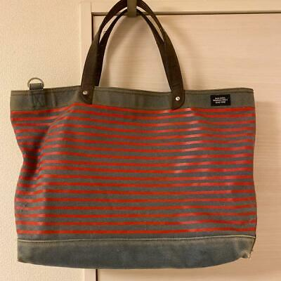 JACK SPADE Canvas Tote Bag Fast Free Shipping from Japan With Tracking - K2889