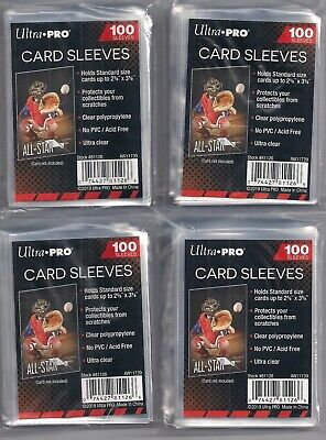 400 Ultra Pro Soft Penny Poly Sleeves for Baseball Card fits 3x4 Top Loaders NEW