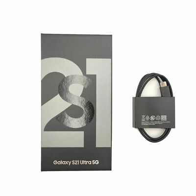 Samsung Galaxy S21 S21- Ultra 5G Empty Retail Box W Insert - C-Type Cable