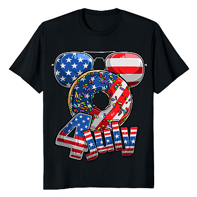 Funny 4th Of July 2021 Fourth Of July 2021 Donuts T-Shirts