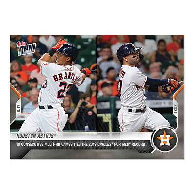 2021 TOPPS NOW 373 HOUSTON ASTROS 10 CONSECTUTIVE MULTI GAME HOME RUN