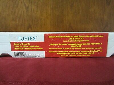 Tuftex 15-Pack Square Closure Strips For PolyCarb - UltraVinyl Panels 2216 3 Ea
