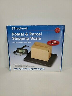 Brecknell BPS400 Portable Shipping Scale w Digital Display 400 LB Capacity NOB