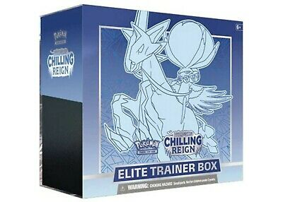Pokemon Sword and Shield Chilling Reign Ice Rider ETB Factory Sealed
