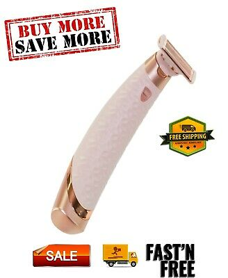 Flawless Nu Razor Dry Shave18K gold-plated head is hypoallergenic Rechargeable