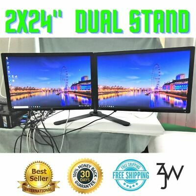 HP 2x 24Inch Dual Widescreen Monitors1920x1200 IPS LED-backlit LCD Z24i Displays