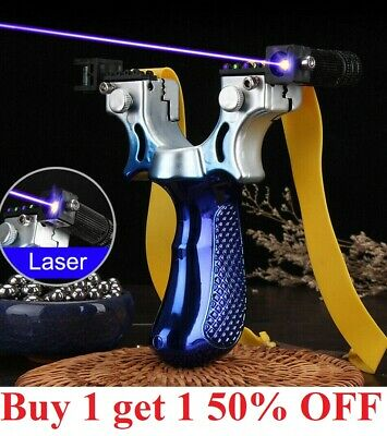 Hunting Professional Catapult Laser Slingshot With Rubber Aim Point Target