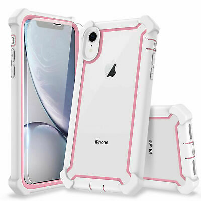 For iPhone XR XS MAX 6 7 8 Plus Clear Case Cover Shockproof Heavy Duty Hybrid