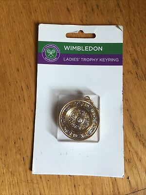 WIMBLEDON KEYRING LADIES TENNIS TROPHY OFFICIAL RARE ON CARD New unused