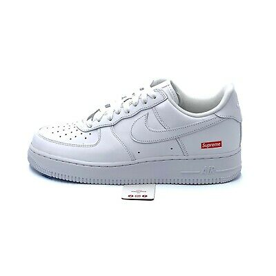 Nike Air Force 1 Low Supreme White CU9225-100 Mens Size 6-13