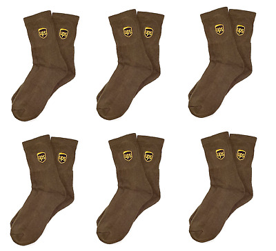6 PAIRS - UPS Socks LARGE Ankle  Quarter - Free Shipping Anklet Style