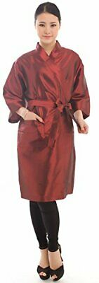 Salon Client Gown Robes Cape Hair Salon Smock for Clients- Kimono Style  Red