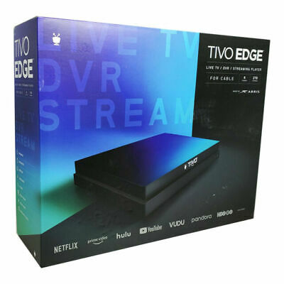 TiVo Edge for Cable 2TB 6 Tuner with Lifetime All In Service