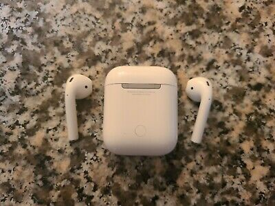 Apple AirPods A2031 A2032 with Charging Case A1602 White - 2nd Generation
