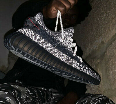 adidas Yeezy Boost 350 V2 Static Black Reflective MOST SIZES AVAILABLE - NEW