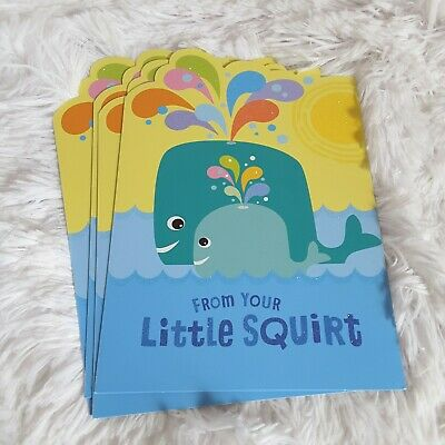 Hallmark Happy Fathers Day Dad Little Squirt Greeting Cards Animals Whales