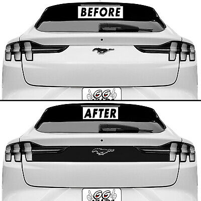 Blackout Accent Overlay for 2021-22 Ford Mustang Mach-E Trunk Tailgate