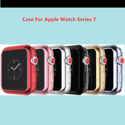Case For Apple Watch Series 7  41mm 45mm TPU Shockproof Soft Case Cover