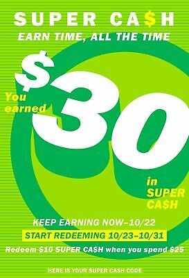 Old Navy Super Cash 30 off 75 Purchase Valid Only 1023-1031 Online