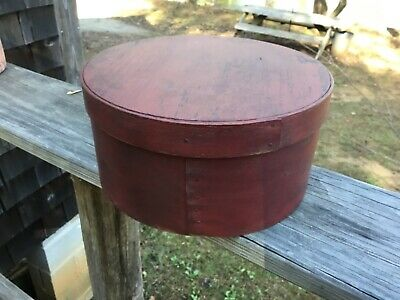 1800's Pantry Box 9 Beautiful Red Paint