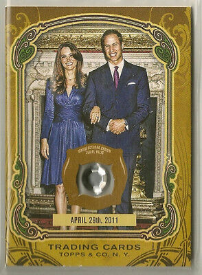 Prince WilliamKate Middleton Topps Gypsy Queen Crown Jewel Relic April 29 2011