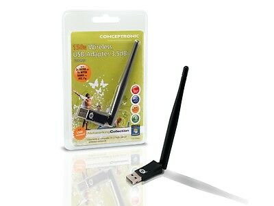 Conceptronic 150Mbps Wireless USB Adapter NEW. Facture