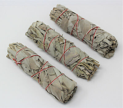 White Sage Smudge Stick 4 - 5 3 Pack Herb House Cleansing Negativity Removal