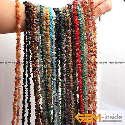 Natural 7-8mm Freeform Gemstone Chips Beads For Jewelry Making Strand 34-15