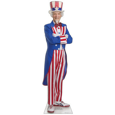 UNCLE SAM Fourth of July USA American CARDBOARD CUTOUT Standup Standee Poster