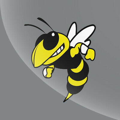 Yellow Jacket Decal Sticker - Sports Logo- Choose Your Size 2 inch - 12 inch