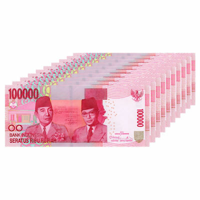 INDONESIAN RUPIAH 100000 X 10  1 Million 1000000 IDR UNCIRCULATED INDONESIA