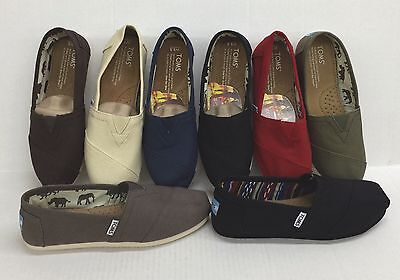 TOMS WOMEN CLASSIC CANVAS SLIP-ON SHOES 100 AUTHENTIC NEW