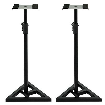 Studio Monitor Speaker Stand Height Adjustable Concert Band Heavy Duty 1 Pair