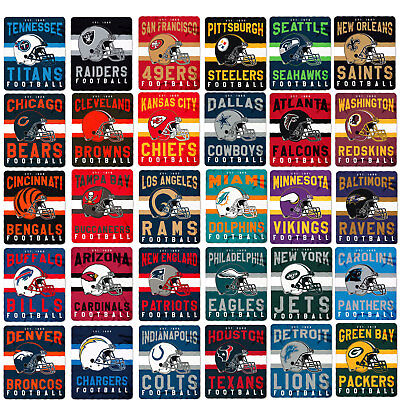 New NFL Football SOFT Fleece Throw Blanket 50 x 60 Pick Your Team - ON SALE