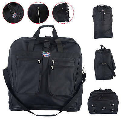 40 Rolling Wheeled Duffel Bag Spinner Suitcase Spinning Luggage Black New