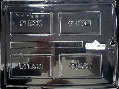 Mothers Day 1 MOM Business Card Chocolate Plastic Candy Soap Mold LOP BC-31