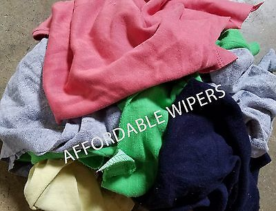 COLOR KNIT SHOP CLEANING TOWELS WIPING RAGSCLOTH - 25 LBS BOX -  250 Pieces
