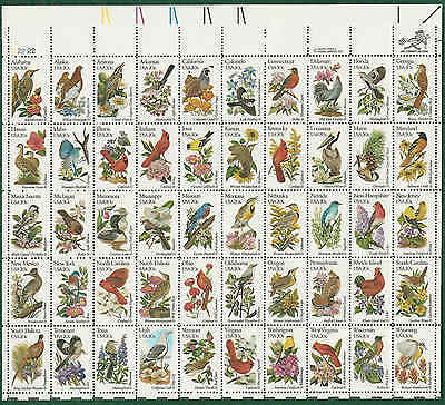 2002  STATE BIRDS and FLOWERS Sheet Of 50  20c   MNH