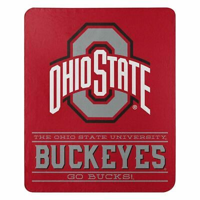 New Northwest NCAA Ohio State Buckeyes Fleece Throw Blanket Large Size 50 x 60