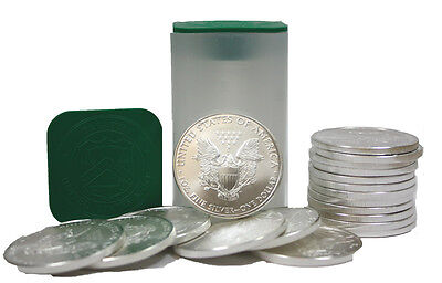 Roll of 20 Silver American Eagle 1oz -999 US Mint American Eagles 1 BU Coins