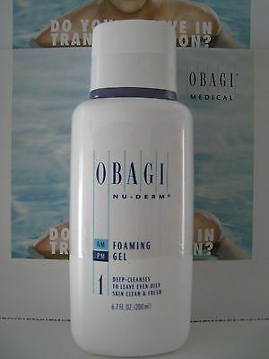 Obagi Nu-Derm Foaming Gel 6-7 oz Brand New Sealed