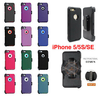 For iPhone 5S5SE Defender Case wScreen Protector Holster Clip Fits Otterbox