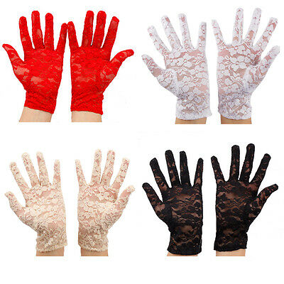 SEXY PAIR OF LACE GLOVES FASHION WEDDING PROM EVENING THEATRE COSTUME8