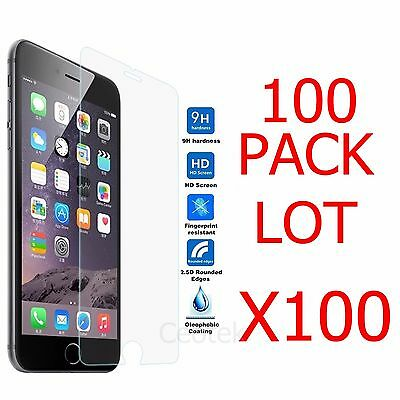 100x Wholesale Lot Tempered Glass Screen Protector for Apple iPhone 7