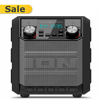 ION Audio Tailgater Express Bluetooth Portable Speaker Stereo System iPA70 - NEW
