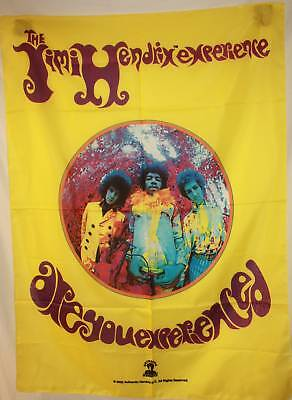 RARE JIMI HENDRIX Are You Experienced Cloth Fabric Poster Flag Tapestry-New