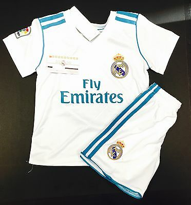 REAL MADRID HOME JERSEY 17-18 TODDLER YOUTH - ADULT CUSTOM AVAILA  FASTSHIPPING